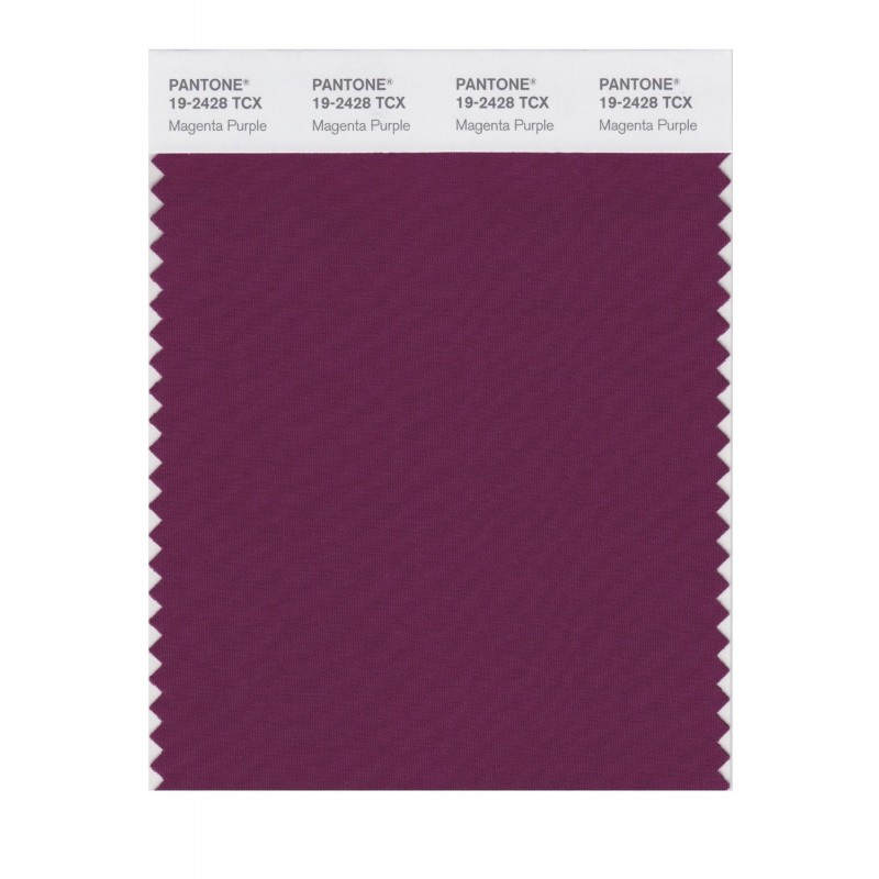Pantone 19-2428 TCX Swatch Card Magenta Purple