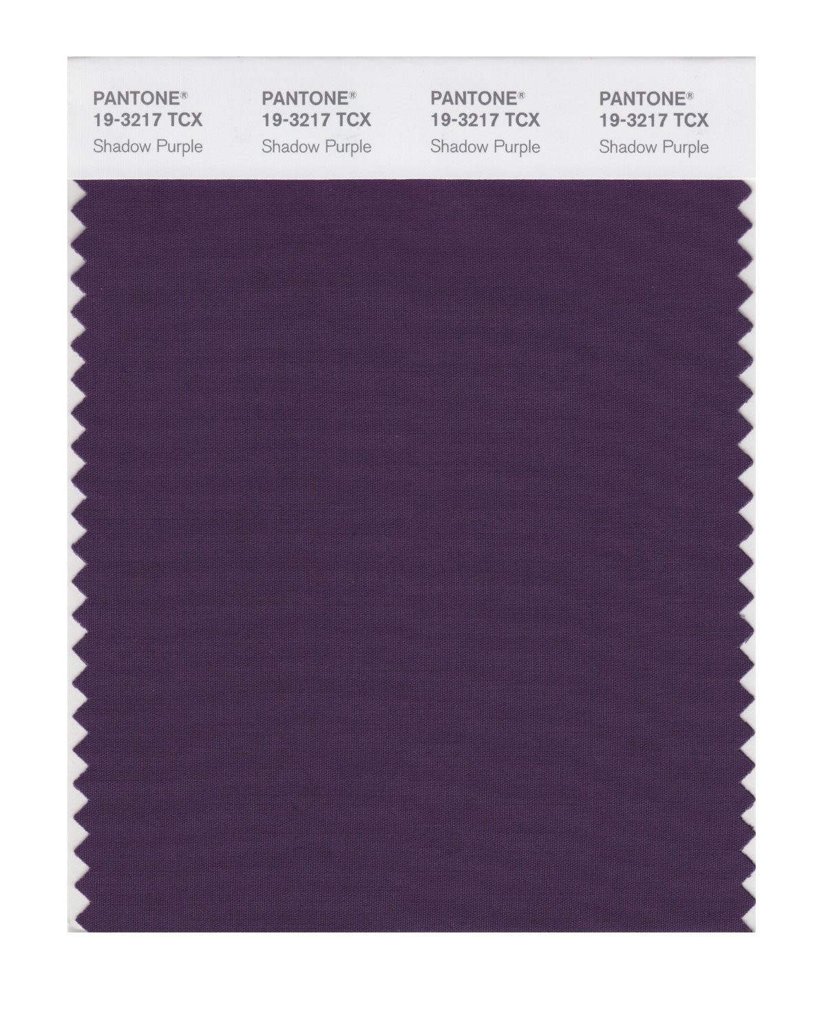 Pantone 19-3217 TCX Swatch Card Shadow Purple