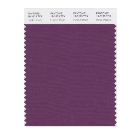 Pantone 19-3223 TCX Swatch Card Purple Passion