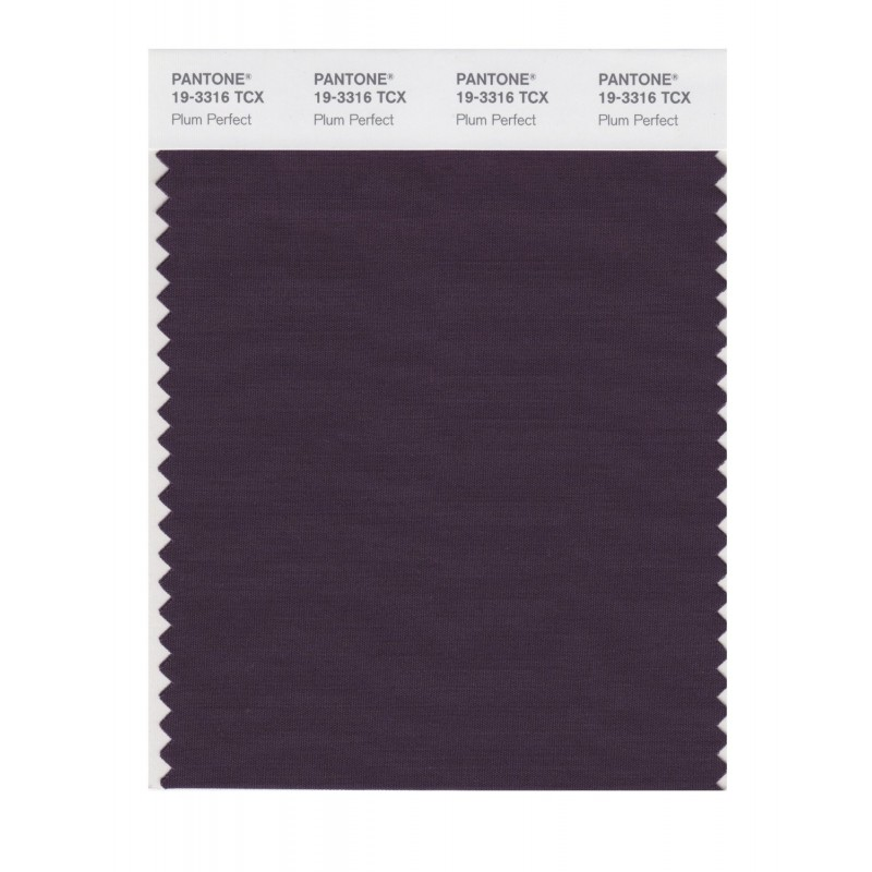 Pantone 19-3316 TCX Swatch Card Plum Perfect