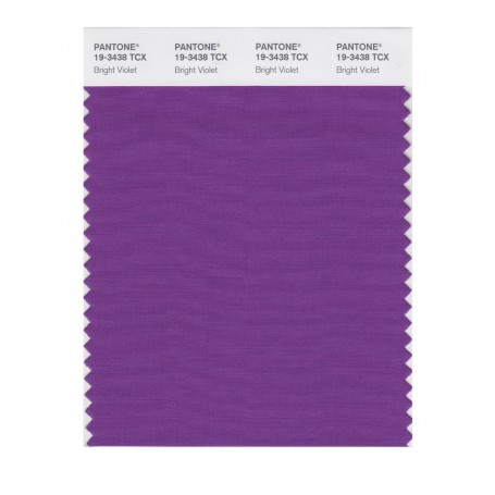 Pantone 19-3438 TCX Swatch Card Bright Violet