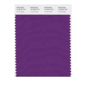 Pantone 19-3540 TCX Swatch Card Purple Magic