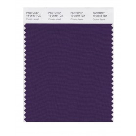 Pantone 19-3640 TCX Swatch Card Crown Jewel