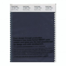 Pantone 19-3831 TCX Swatch Card Maritime Blue