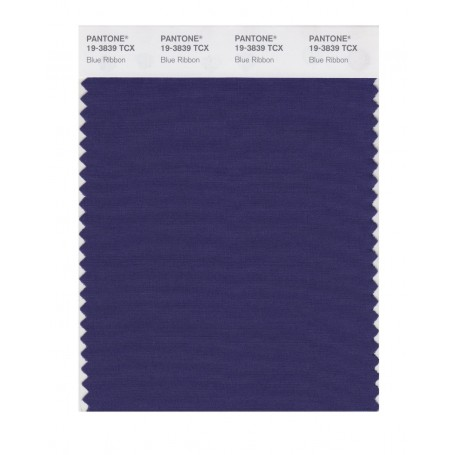 Pantone 19-3839 TCX Swatch Card Blue Ribbon