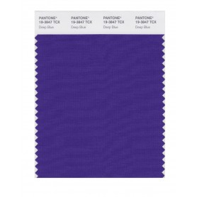 Pantone 19-3847 TCX Swatch Card Deep Blue