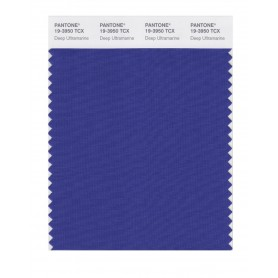 Pantone 19-3950 TCX Swatch Card Deep Ultramarine