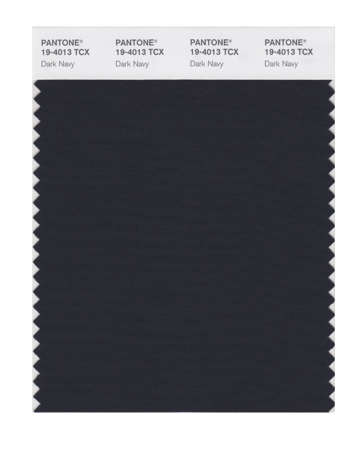Pantone 19-4013 TCX Swatch Card Dark Navy