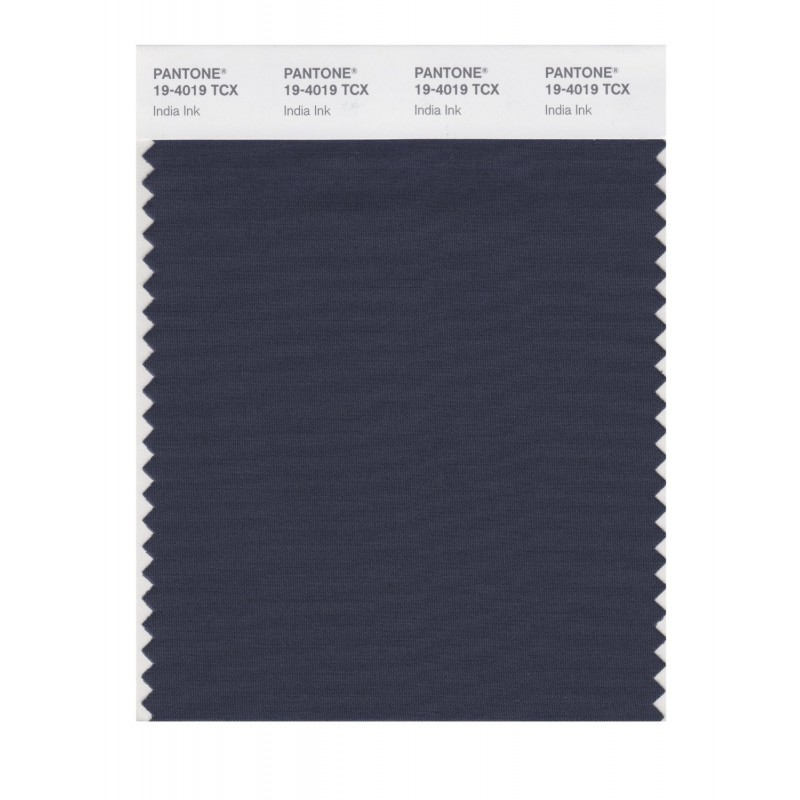 Pantone 19-4019 TCX Swatch Card India Ink