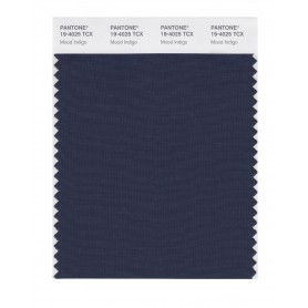 Pantone 19-4025 TCX Swatch Card Mood Indigo