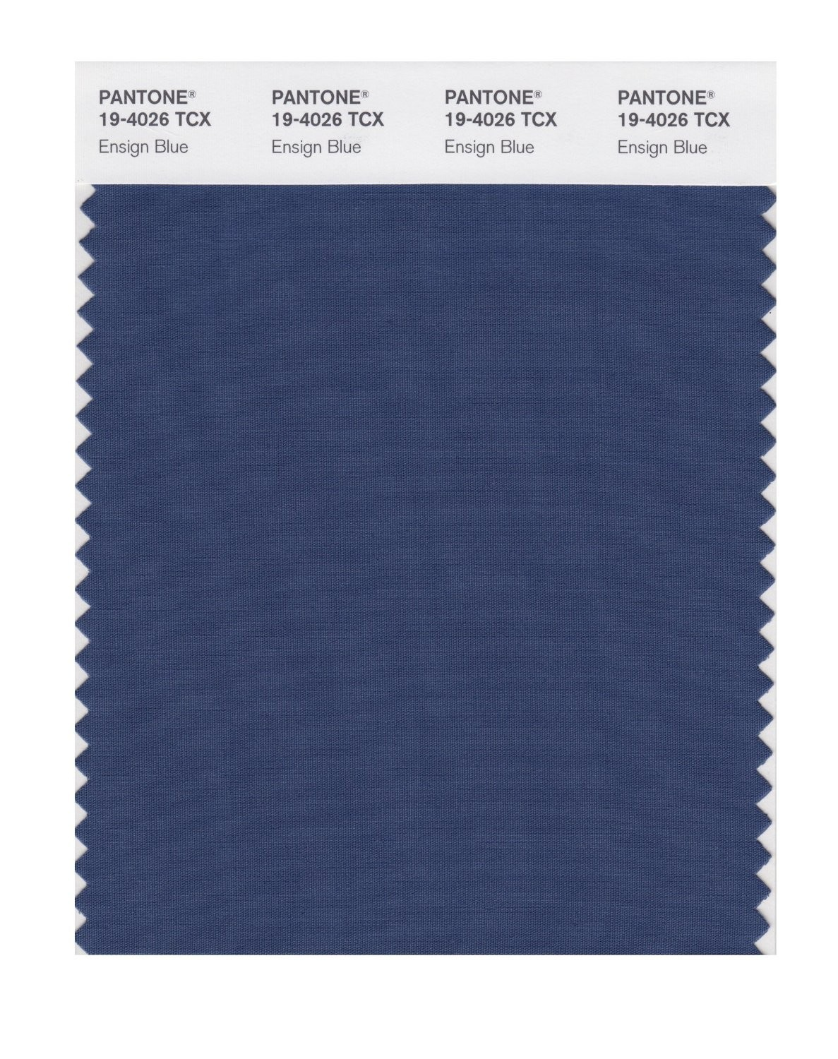 Pantone 19-4026 TCX Swatch Card Ensign Blue
