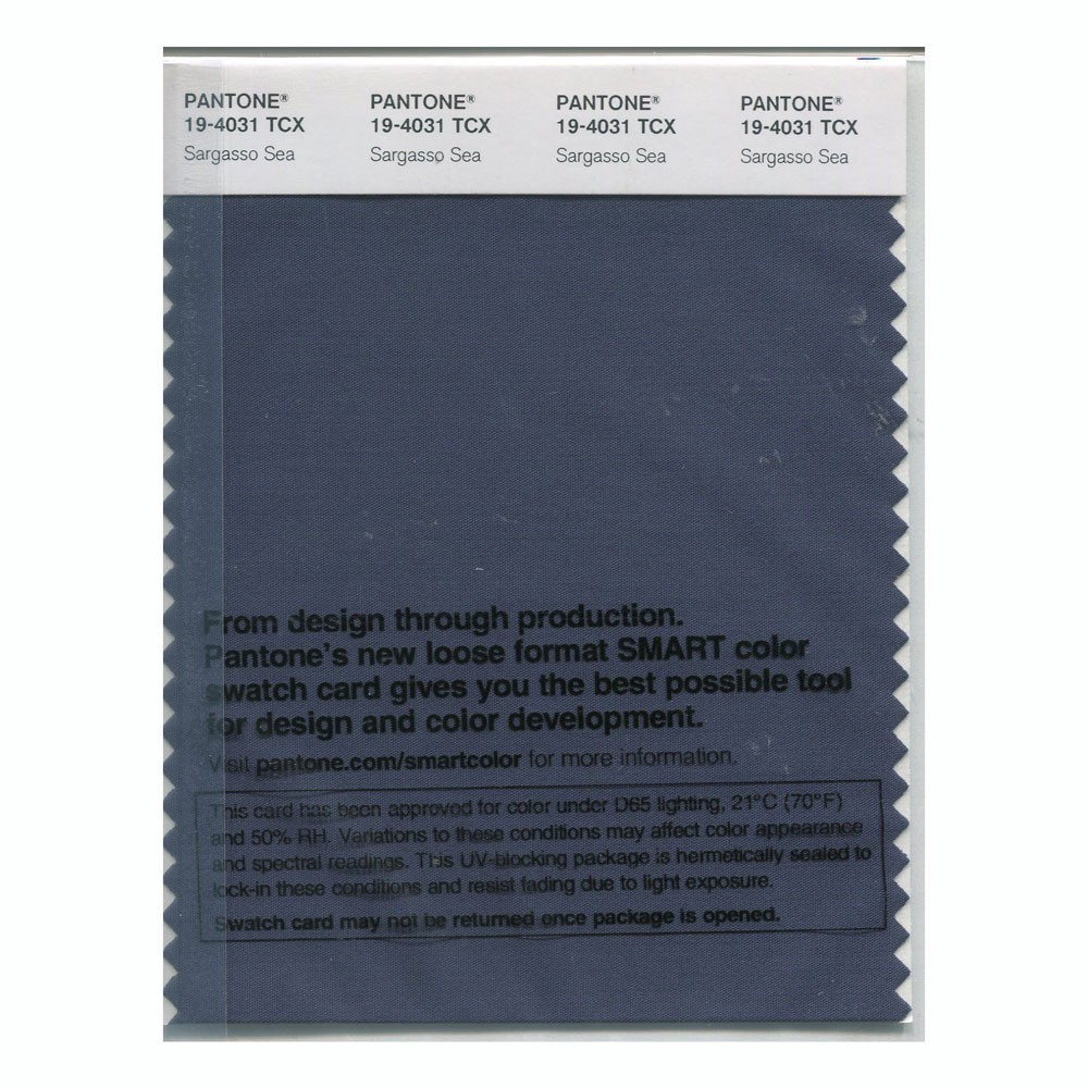 Pantone 19-4031 TCX Swatch Card Sargasso Sea