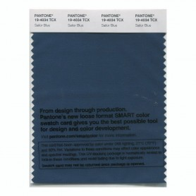 Pantone 19-4034 TCX Swatch Card Sailor Blue