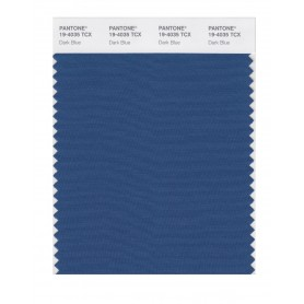 Pantone 19-4035 TCX Swatch Card Dark Blue