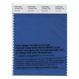 Pantone 19-4045 TCX Swatch Card Lapis Blue