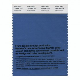 Pantone 19-4048 TCX Swatch Card Baleine Blue
