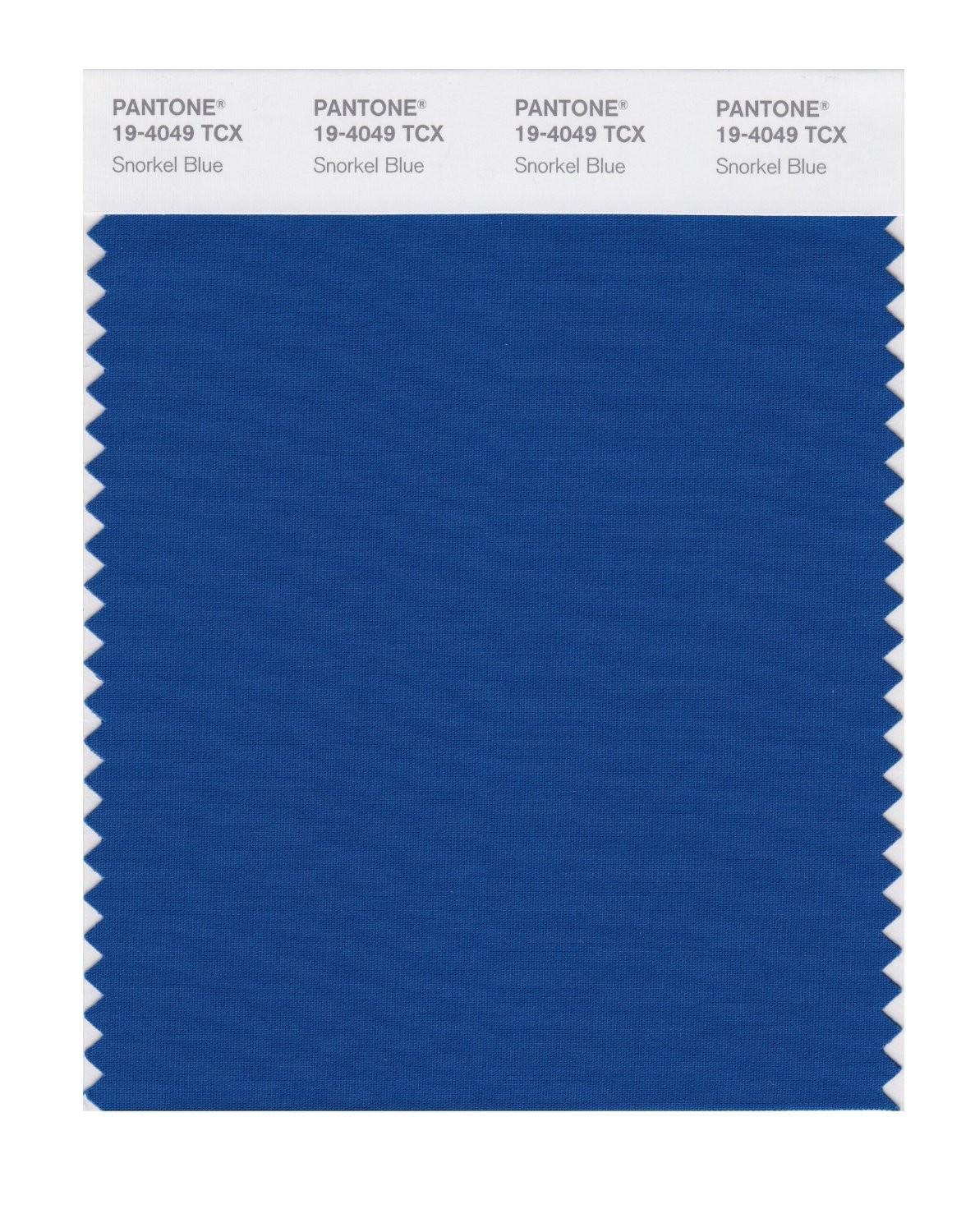 Pantone 19-4049 TCX Swatch Card Snorkel Blue