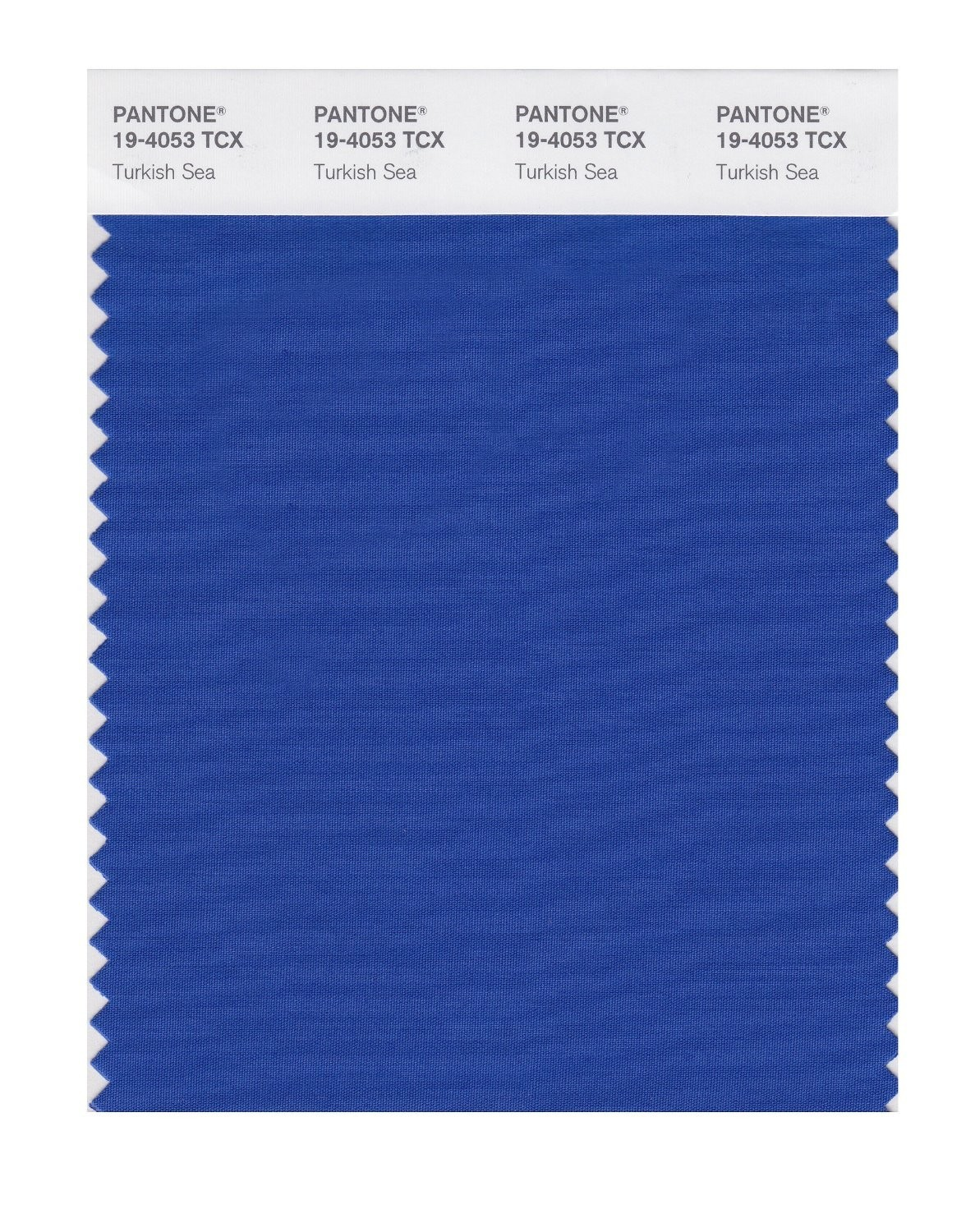 Pantone 19-4053 TCX Swatch Card Turkish Sea