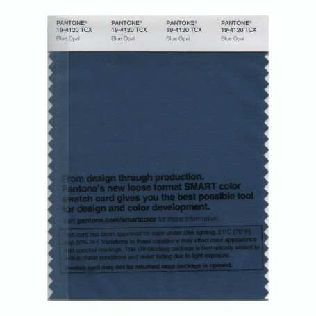 Pantone 19-4120 TCX Swatch Card Blue Opal