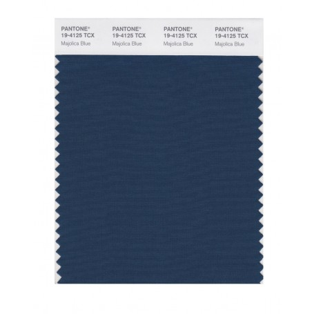 Pantone 19-4125 TCX Swatch Card Majolica Blue