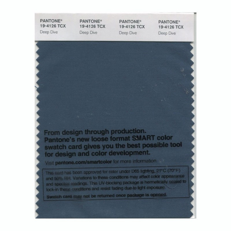 Pantone 19-4126 TCX Swatch Card Deep Dive