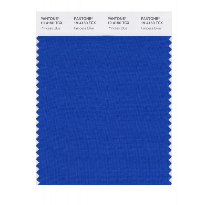 Pantone 19-4150 TCX Swatch Card Princess Blue