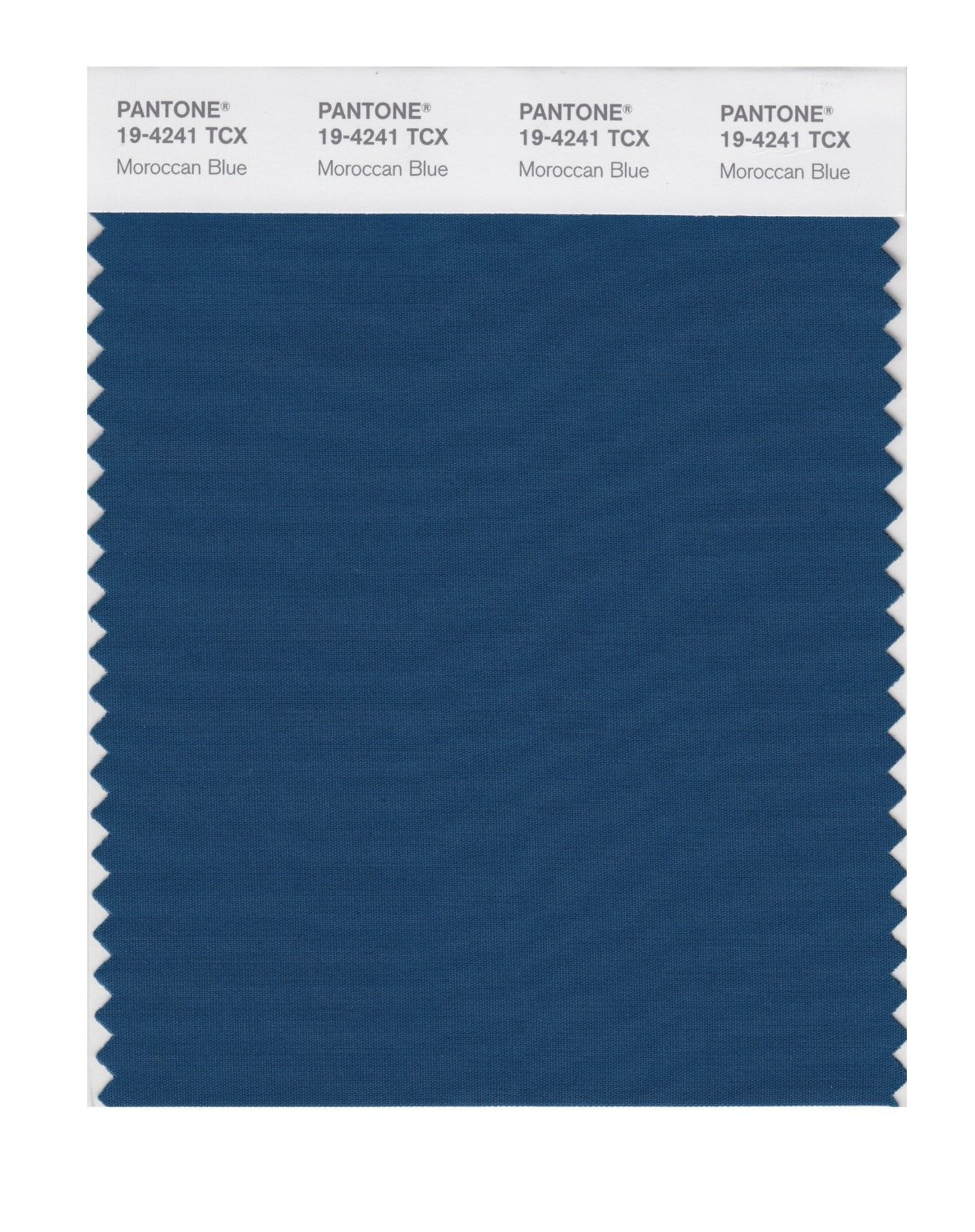 Pantone 19-4241 TCX Swatch Card Morracan Blue