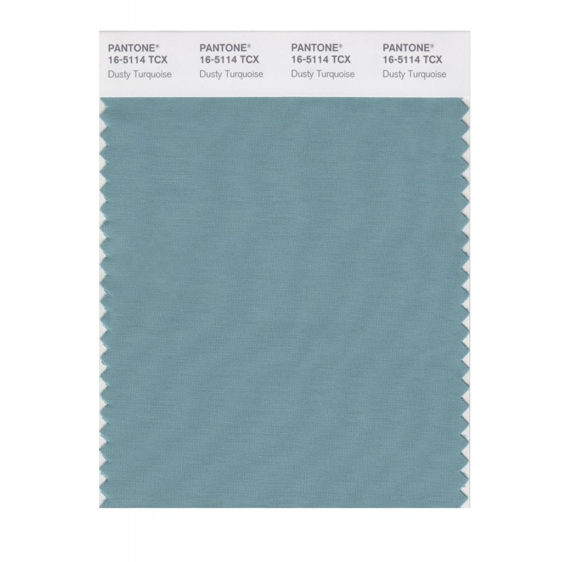 Pantone 16-5114 TCX Swatch Card Dusty Turquoise
