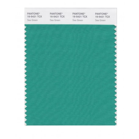 Pantone 16-5421 TCX Swatch Card Sea Green