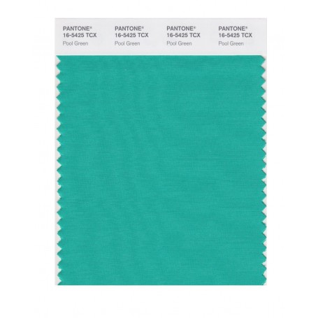 Pantone 16-5425 TCX Swatch Card Pool Green