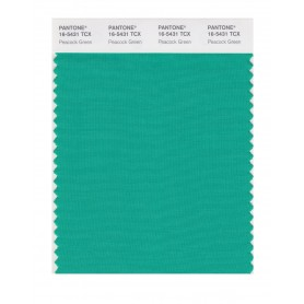 Pantone 16-5431 TCX Swatch Card Peacock Green