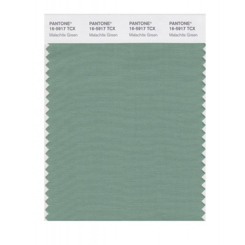 Pantone 16-5917 TCX Swatch Card Malachite Green