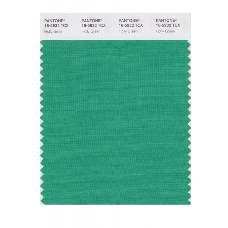 Pantone 16-5932 TCX Swatch Card Holly Green