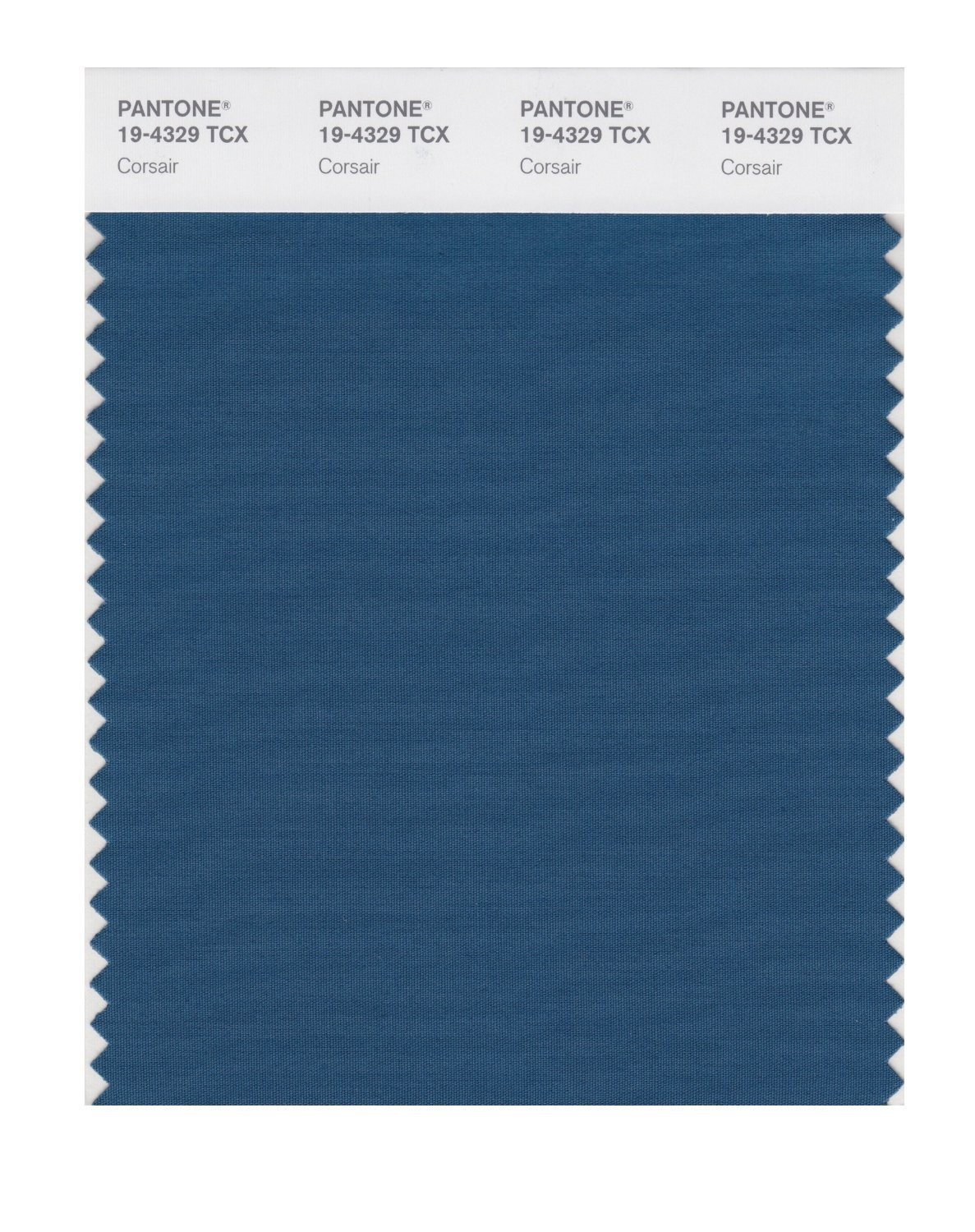Pantone 19-4329 TCX Swatch Card Corsair