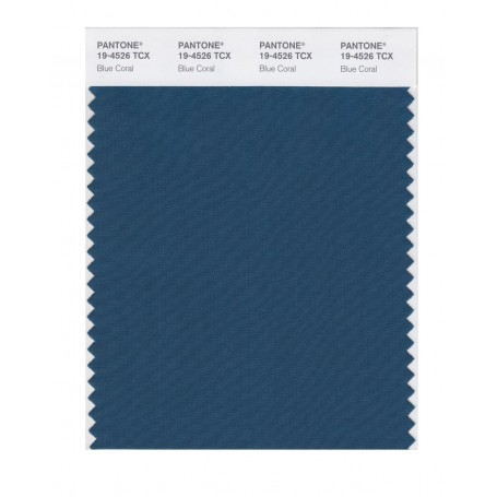 Pantone 19-4526 TCX Swatch Card Blue Coral