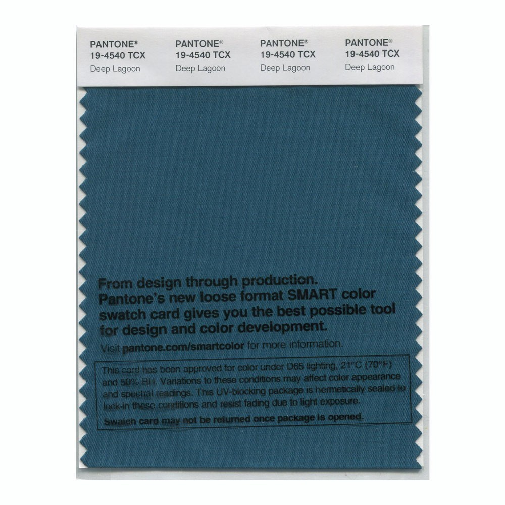 Pantone 19-4540 TCX Swatch Card Deep Lagoon