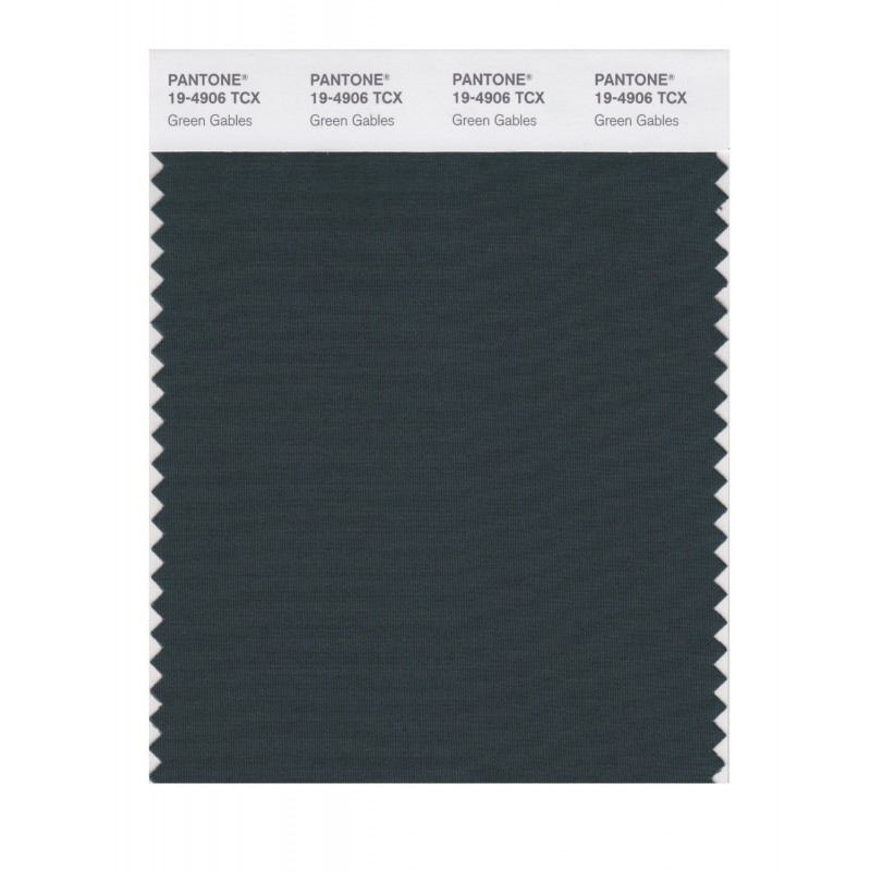 Pantone 19-4906 TCX Swatch Card Green Gables
