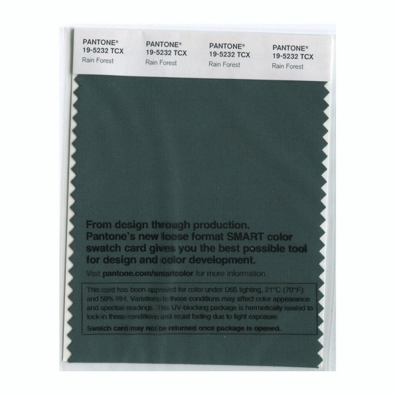 Pantone 19-5232 TCX Swatch Card Rain Forest