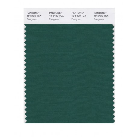 Pantone 19-5420 TCX Swatch Card Evergreen