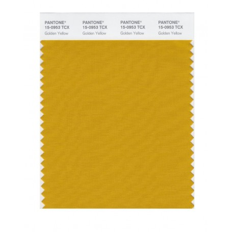Pantone 15-0953 TCX Swatch Card Golden Yellow