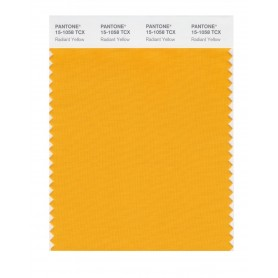 Pantone 15-1058 TCX Swatch Card Radiant Yellow