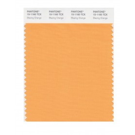 Pantone 15-1160 TCX Swatch Card Blazing Orange