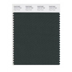 Pantone 19-6110 TCX Swatch Card Deep Forest
