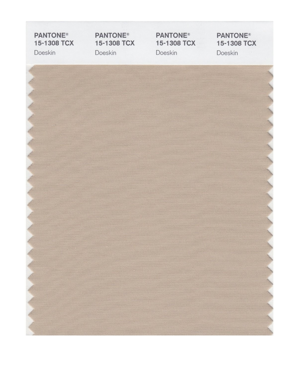 Pantone 15-1308 TCX Swatch Card Doeskin