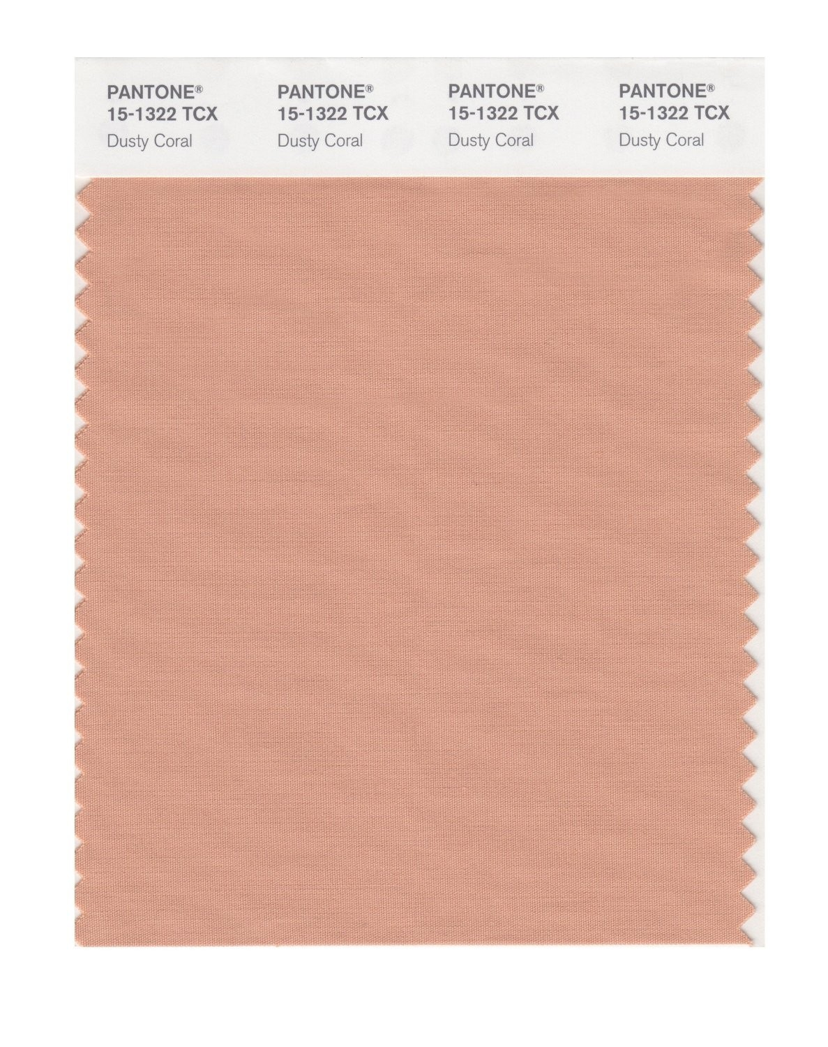 Pantone 15-1322 TCX Swatch Card Dusty Coral