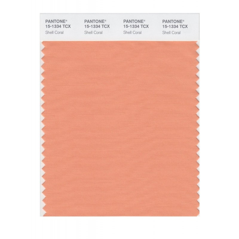 Pantone 15-1334 TCX Swatch Card Shell Coral