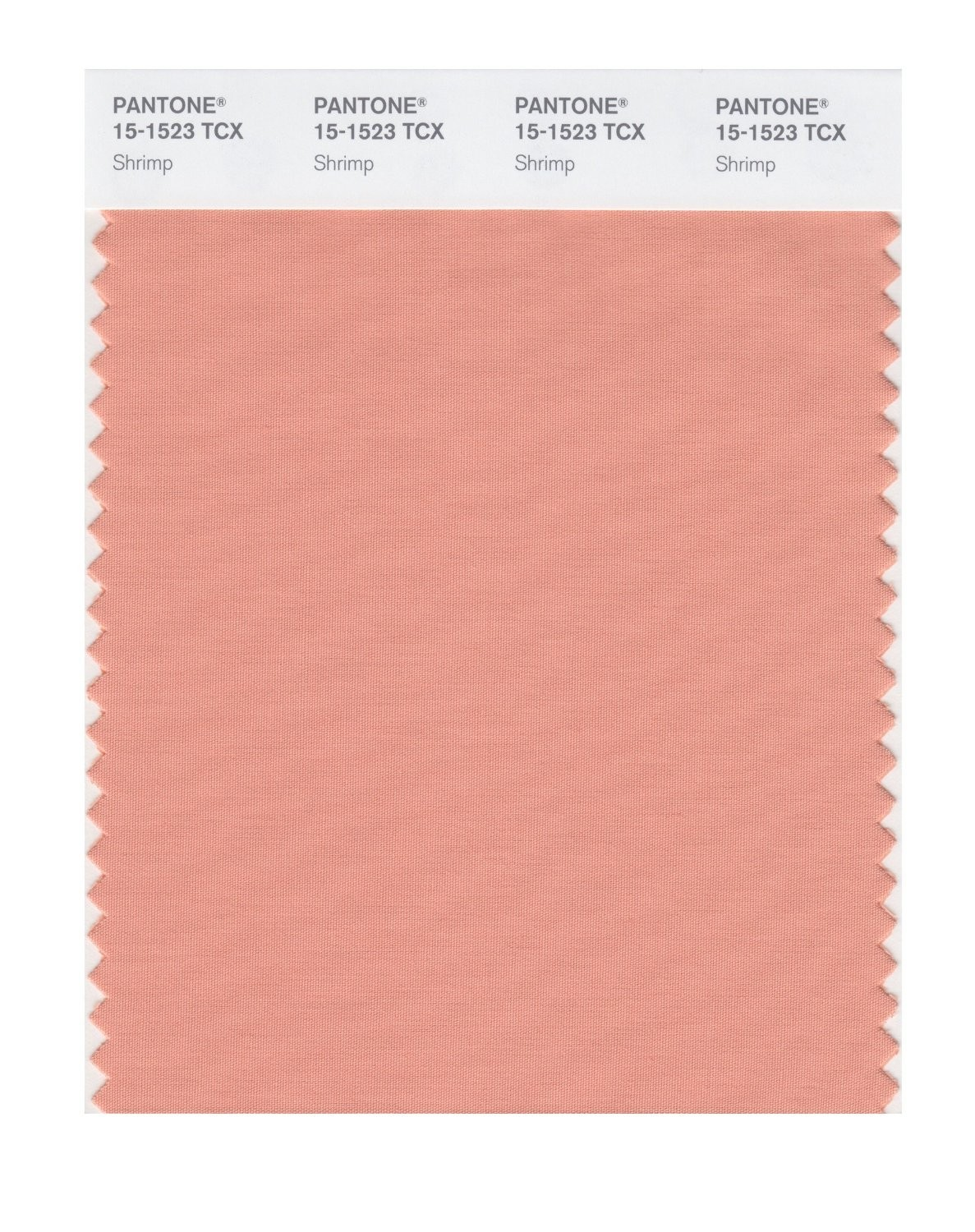 Pantone 15-1523 TCX Swatch Card Shrimp