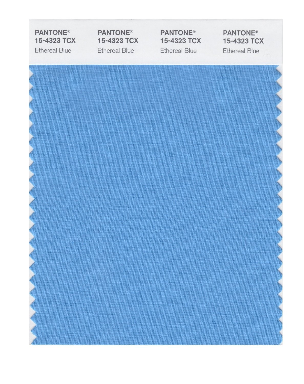 Pantone 15-4323 TCX Swatch Card Ethereal Blue