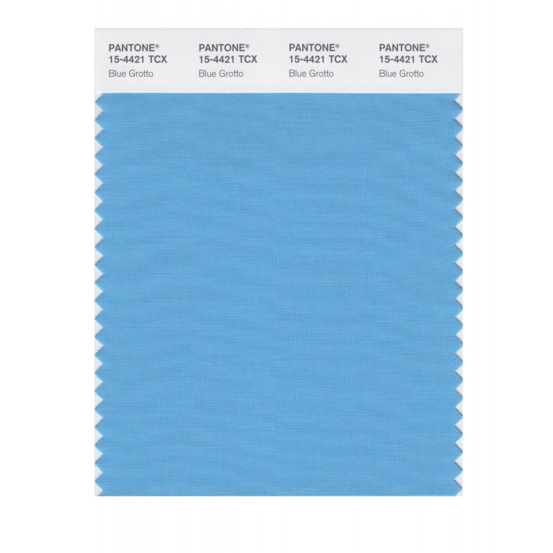 Pantone 15-4421 TCX Swatch Card Blue Grotto