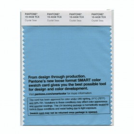 Pantone 15-4428 TCX Swatch Card Crystal Seas